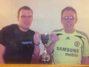 Justin Parker, Men's singles winner 2009/2010 with my dad Ian Parker who was runner-up back in 1977.